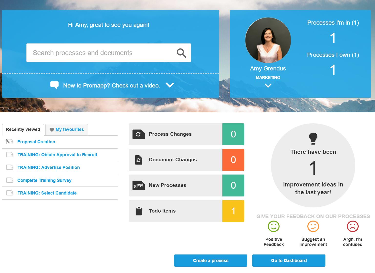 Nintex Promapp Home Page