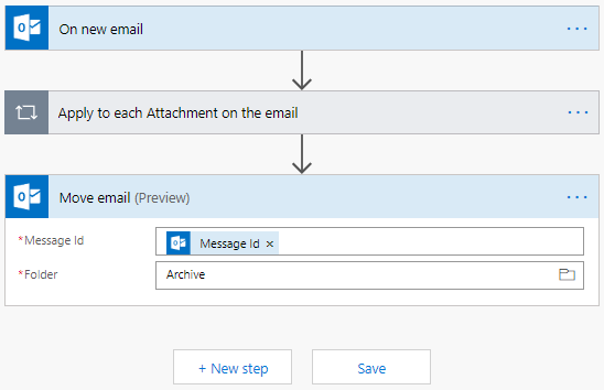 Microsoft Flow Move Email