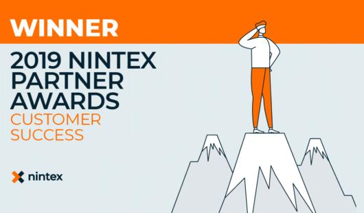 Nintex 2019 Partner Awards Winner